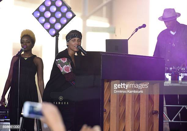 Alicia Keys performs on NBC's Today at Rockefeller Plaza on September 2 2016 in New York City