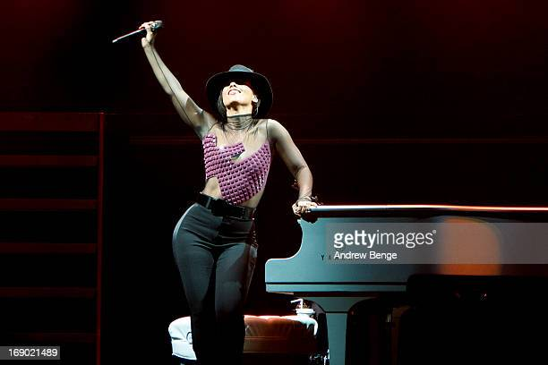 Alicia Keys performs on stage at Echo Arena on May 18, 2013 in Liverpool, England.
