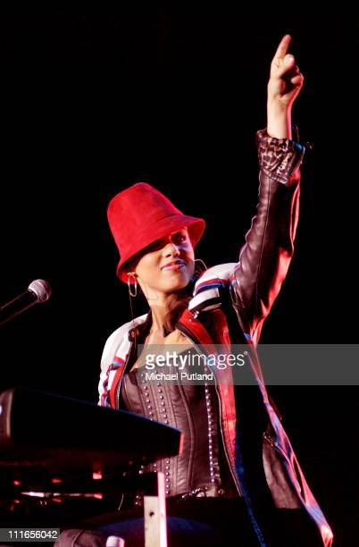 Alicia Keys performs on stage at Wembley Arena London 3rd November 2002