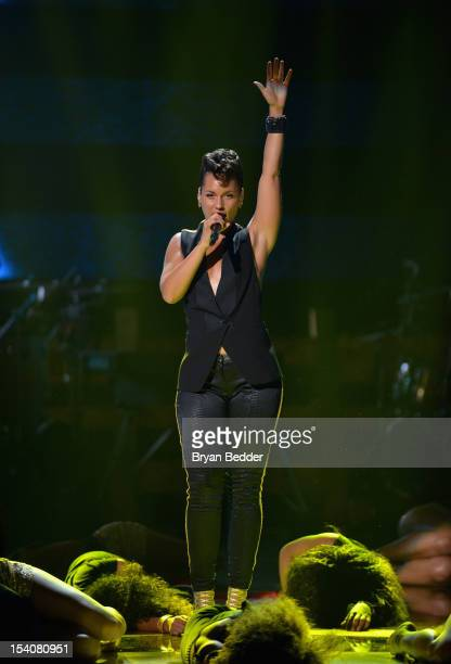 Alicia Keys performs onstage at BET's Black Girls Rock 2012 at Paradise Theater on October 13 2012 in New York City