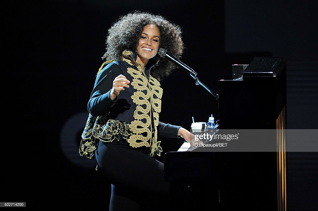 Alicia Keys performs onstage during BET Networks 2016 Upfront at Rose Hall at Jazz at Lincoln Center on April 20, 2016 in New York City.