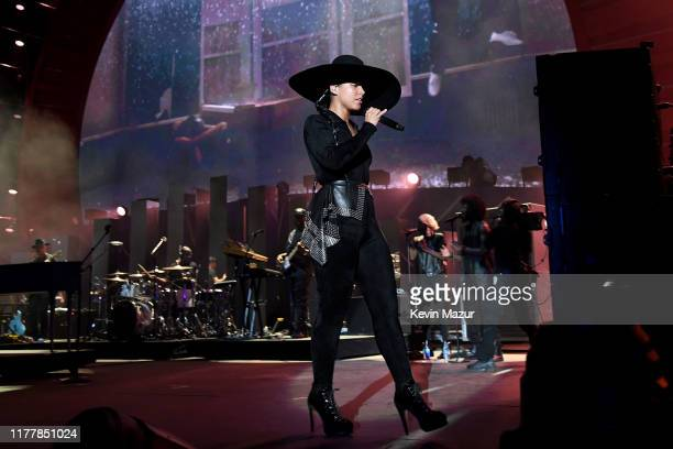Alicia Keys performs onstage during the 2019 Global Citizen Festival: Power The Movement in Central Park on September 28, 2019 in New York City.