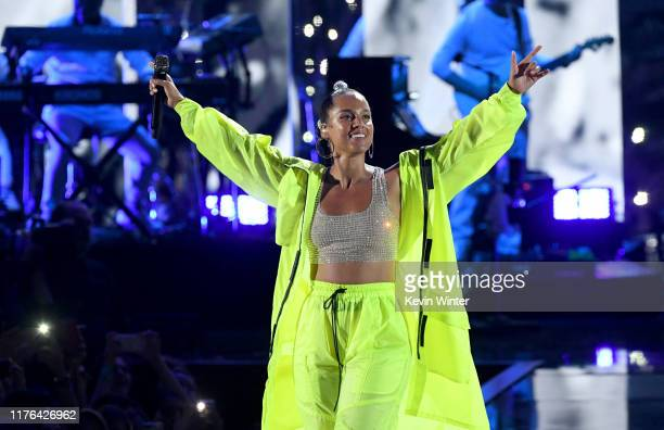 Alicia Keys performs onstage during the 2019 iHeartRadio Music Festival at TMobile Arena on September 21 2019 in Las Vegas Nevada