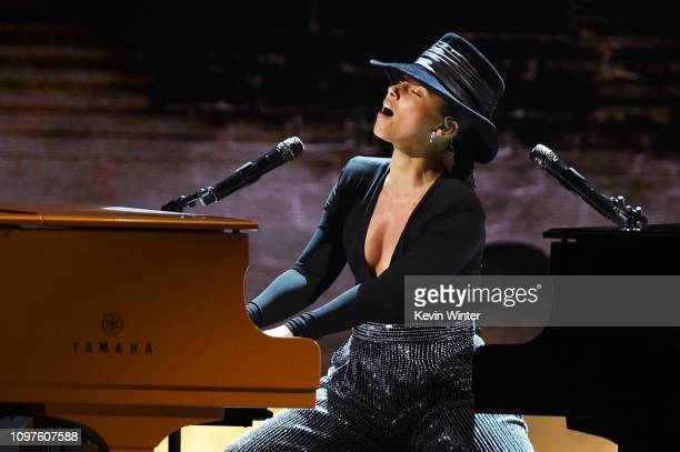 Alicia Keys performs onstage during the 61st Annual GRAMMY Awards at Staples Center on February 10 2019 in Los Angeles California