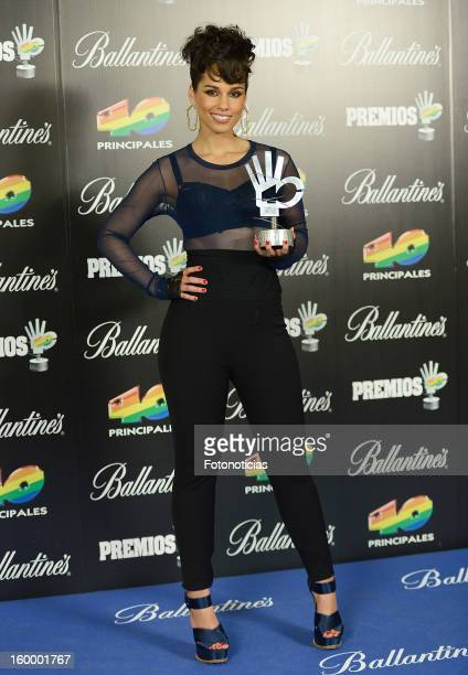 Alicia Keys poses in the press room during '40 Principales Awards' 2012 at the Palacio de Deportes on January 24 2013 in Madrid Spain