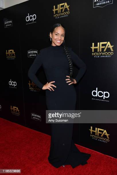 Alicia Keys poses in the press room during the 23rd Annual Hollywood Film Awards at The Beverly Hilton Hotel on November 03 2019 in Beverly Hills...