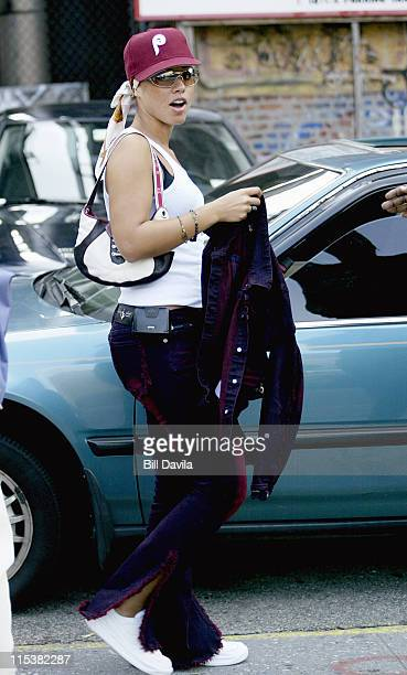Alicia Keys sighting around SoHo New York City during Alicia Keys Sighting in Soho September 4 2002 in New York City New York United States