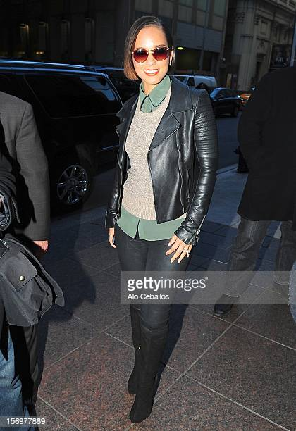 Alicia Keys Sighting at Streets of Manhattan on November 26 2012 in New York City