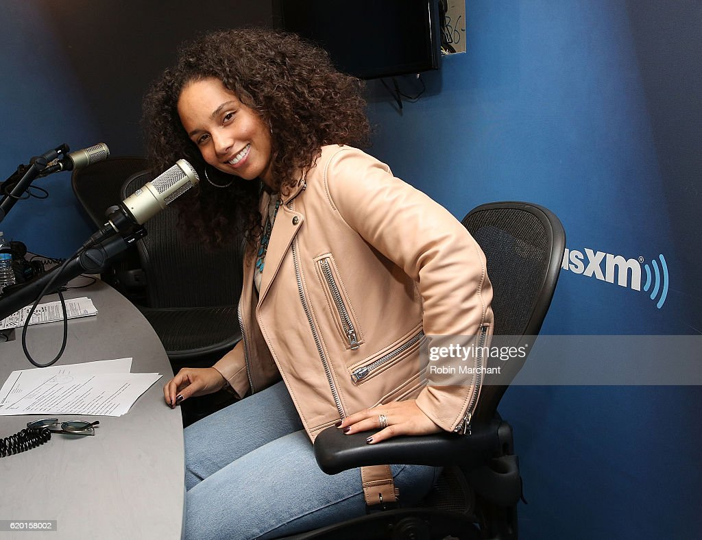 Alicia Keys visits at SiriusXM Studio on November 1, 2016 in New York City.