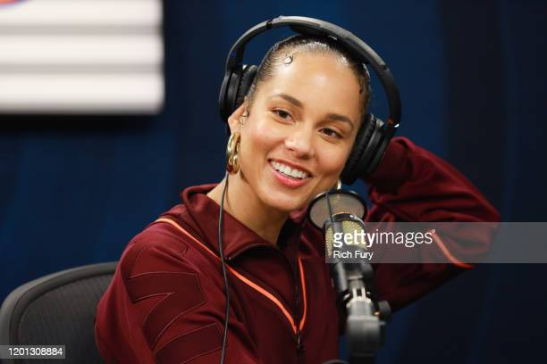 Alicia Keys visits the SiriusXM Hollywood Studio on January 22, 2020 in Los Angeles, California.