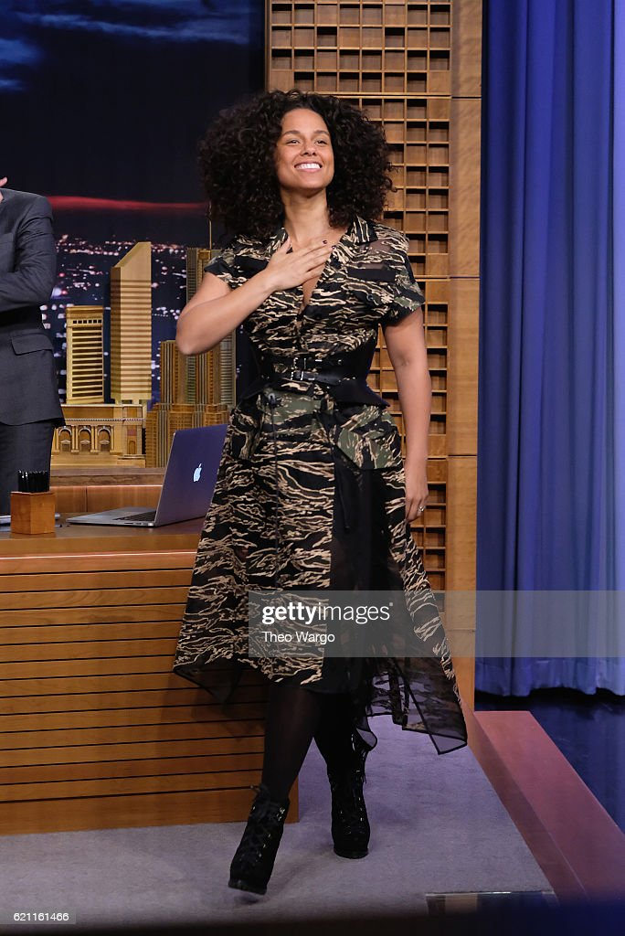 Alicia Keys Visits 'The Tonight Show Starring Jimmy Fallon' at Rockefeller Center on November 4, 2016 in New York City.