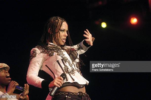 Alicia Keys, vocal, performs at the North Sea Jazz Festival on July 11th 2004 in Amsterdam, the Netherlands.