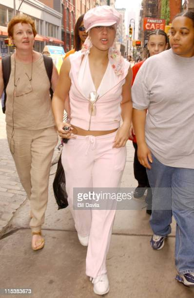 Alicia Keys wearing Baby Phat during Alicia Keys Out and About in Soho New York City on July 24 2003 at Soho in New York City New York United States