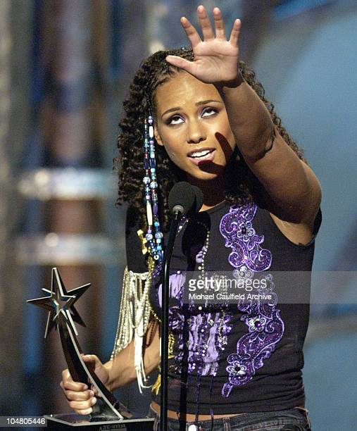 Alicia Keys winner for Best New Artist during The 2nd Annual BET Awards Show at The Kodak Theater in Hollywood California United States