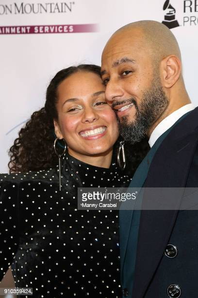 Alicia Keys with her husband Kasseem Dean aka ' Swizz Beatz' attend the Recording Academy Producers and Engineers Wing presents 11th Annual Grammy...