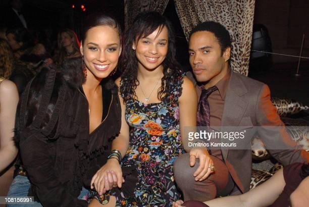 Alicia Keys , Zoe Kravitz and Lenny Kravitz