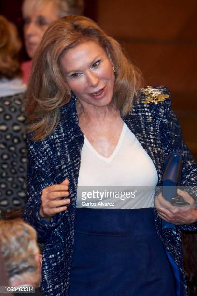 Alicia Koplowitz arrives at the inaugural act of the bicentennial of the Prado Museum on November 19 2018 in Madrid Spain