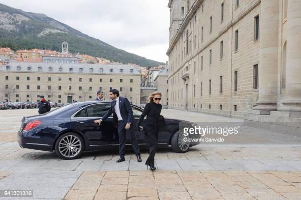 Alicia Koplowitz attends 25th Anniversary of King Juan Carlos' Father's Death at Monasterio de San Lorenzo de El Escorial on April 3 2018 in El...