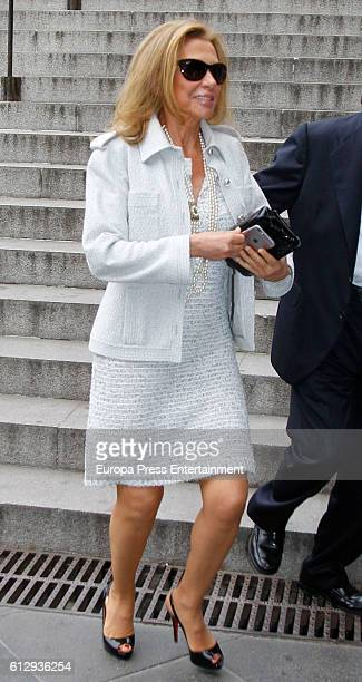 Alicia Koplowitz attends a meeting with 'Friends Of Prado Museum Foundation' on October 6 2016 in Madrid Spain