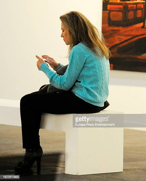 Alicia Koplowitz attends International Contemporary Art Fair ARCO 2013 at Ifema on February 13 2013 in Madrid Spain