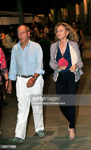 Alicia Koplowitz attends Rod Stewart concert at Royal Theatre on July 5 2016 in Madrid Spain