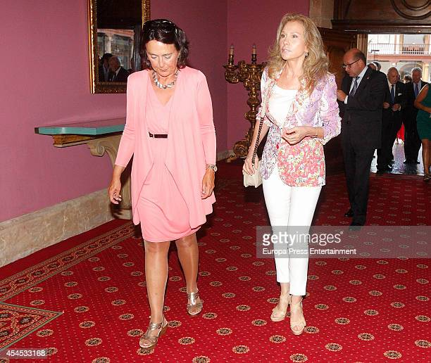 Alicia Koplowitz attends the meeting of jury members of The Prince of Asturias Award on September 2 2014 in Oviedo Spain