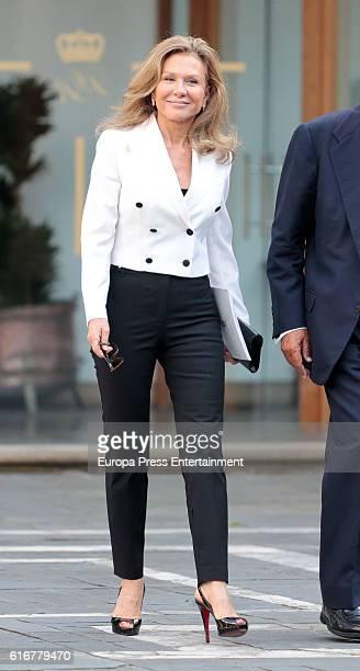 Alicia Koplowitz attends the meeting of jury members of the Princess of Asturias Award on September 5 2016 in Oviedo Spain