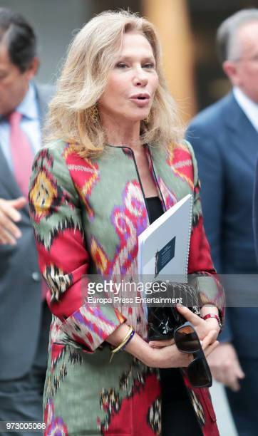 Alicia Koplowitz attends the meeting of jury members of The Princess of Asturias Award for Concord on June 12 2018 in Oviedo Spain