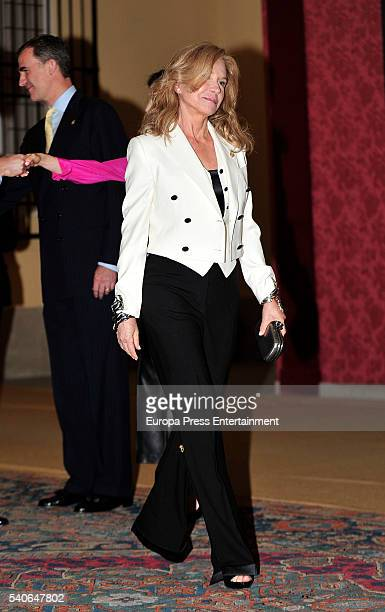 Alicia Koplowitz attends the meeting with members of Princess of Asturias Foundation at El Pardo palace on June 15 2016 in Madrid Spain