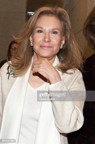 Alicia Koplowitz attends the 'Visiones Del Mundo Hispanico Tesoros de la Hispanic Society Museum Library' exhibition at El Prado Museum on April 3...