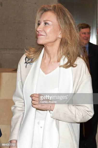 Alicia Koplowitz attends the 'Visiones Del Mundo Hispanico Tesoros de la Hispanic Society Museum Library' exhibition at El Prado Museum on April 3...
