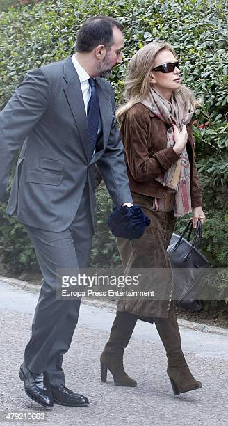 Alicia Koplowitz expresses her condolences to Marichalar family on March 14 2014 in Madrid Spain Princess Elena of Spain's ex motherinlaw Count of...