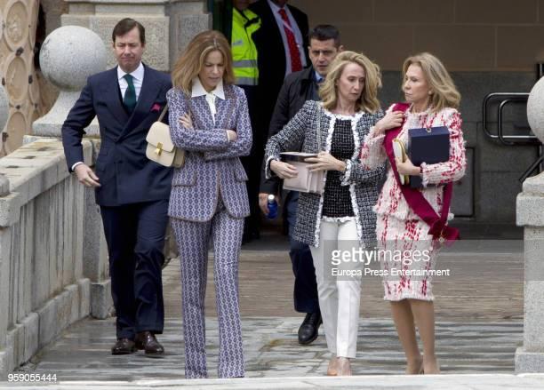 Alicia Koplowitz her son Alberto Cortina Koplowitz and her daughtersinlaw Ines Balmaseda and Barbara Chapartegui attend the delivery ceremony of the...