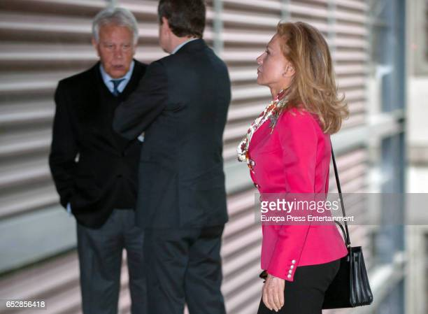 Alicia Koplowitz Jose Luis Rodriguez Zapatero and Felipe Gonzalez attend the delivery ceremony of the 'Alfonso X El Sabio' Grand Cross of the Civil...