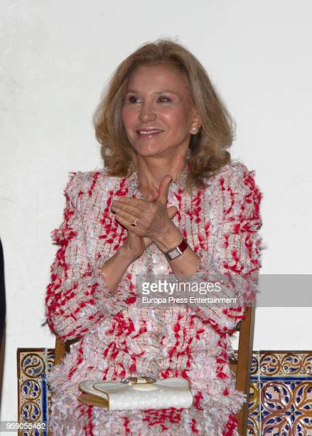 Alicia Koplowitz receives the delivery ceremony of the 'Alfonso X El Sabio' Grand Cross of the Civil Order at Alcazar on May 14 2018 in Segovia Spain