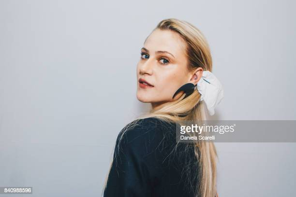 Alicia Kuczman attends at Agua de Coco Backstage at SPFW N44 Winter 2018 at Ibirapuera's Bienal Pavilion on August 29 2017 in Sao Paulo Brazil