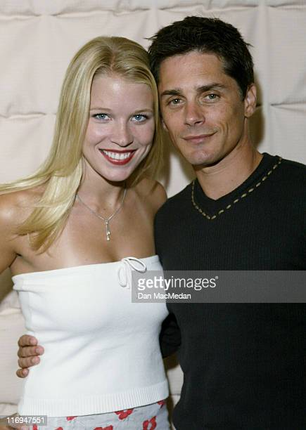 Alicia Leigh Willis and Billy Warlock during ABC's General Hospital Fan Day at Sportsman's Lodge in Studio City California United States