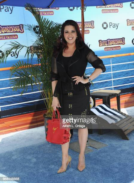 Alicia Machado arrives for Columbia Pictures And Sony Pictures Animation's World Premiere Of 'Hotel Transylvania 3 Summer Vacation' held at Regency...
