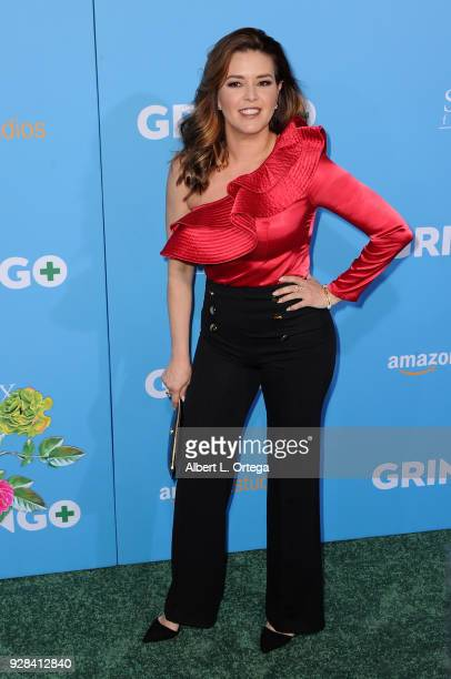 Alicia Machado arrives for the Premiere Of Amazon Studios And STX Films' Gringo held at Regal LA Live Stadium 14 on March 6 2018 in Los Angeles...