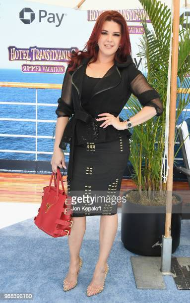 Alicia Machado attends Columbia Pictures And Sony Pictures Animation's World Premiere Of 'Hotel Transylvania 3 Summer Vacation' at Regency Village...