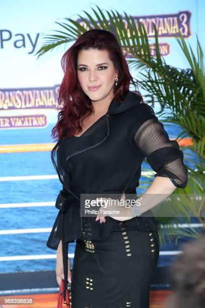 Alicia Machado attends the Columbia Pictures and Sony Pictures Animation's world premiere of Hotel Transylvania 3 Summer Vacation at Regency Village...