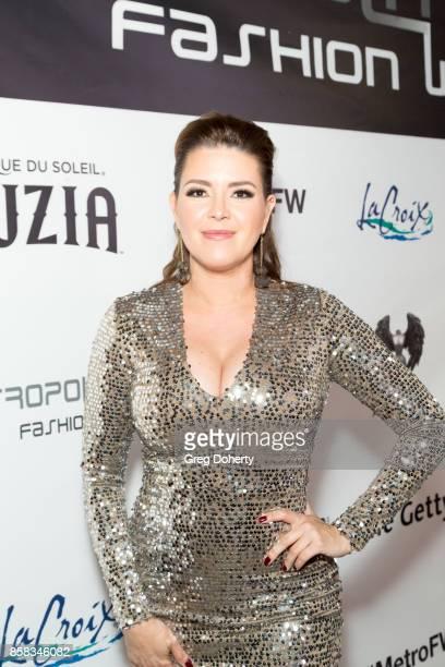 Alicia Machado attends the Metropolitan Fashion Week Closing Night Gala at Arcadia Performing Arts Center on October 5 2017 in Arcadia California