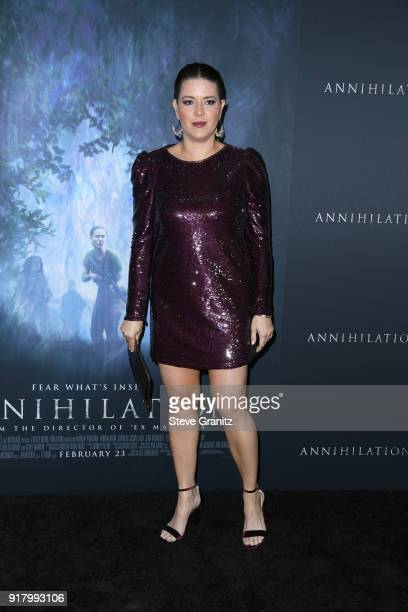 Alicia Machado attends the premiere of Paramount Pictures' 'Annihilation' at Regency Village Theatre on February 13 2018 in Westwood California