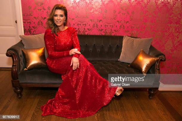 Alicia Machado attends the Treats annual Oscars party at the private residence of Jonas Tahlin CEO of Absolut Elyx on March 4 2018 in Hollywood...