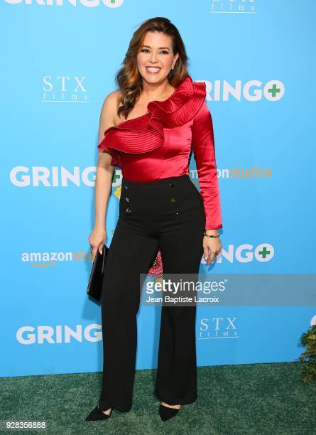 Alicia Machado attends the world premiere of 'Gringo' from Amazon Studios and STX Films at Regal LA Live Stadium 14 on March 6 2018 in Los Angeles...