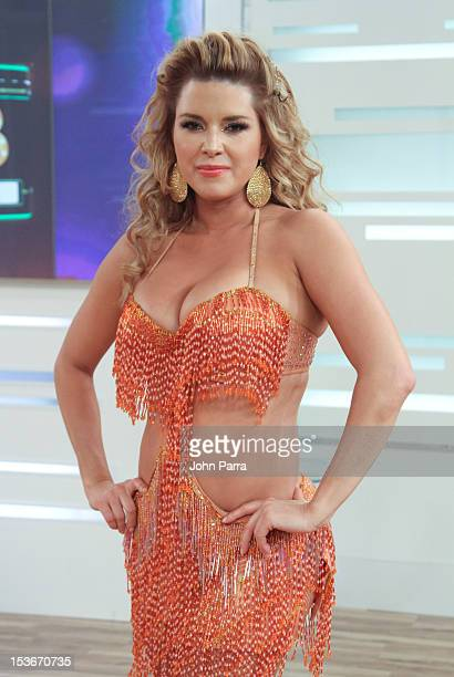 Alicia Machado backstage during Univisions Mira Quien Baila on October 6 2012 in Miami Florida