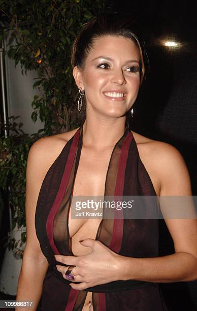 Alicia Machado during El Premio de la Gente Latin Music Fan Awards 2005 Red Carpet at The Forum in Los Angeles California United States