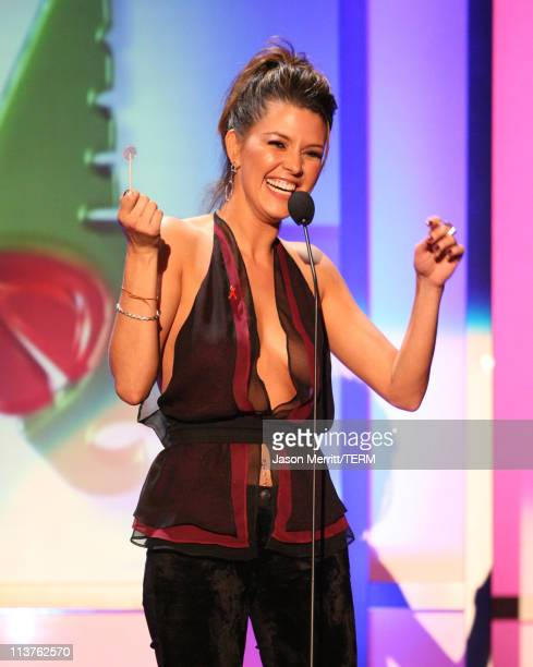 Alicia Machado during El Premio de la Gente Latin Music Fan Awards 2005 Show at The Forum in Los Angeles California United States