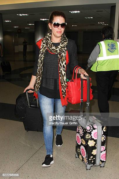 Alicia Machado is seen at LAX on November 09 2016 in Los Angeles California