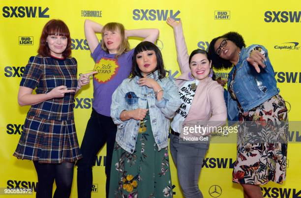 Alicia Malone Amy Nicholson Jen Yamato Monica Castillo and Jacqueline Coley attend The Female Voices of Film Twitter during SXSW at Austin Convention...
